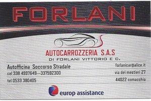 Autocarrozzeria Forlani soccorso stradale tel 0533380405